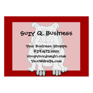 Bulldogs Mascot on Red Dog Lover Gifts Pack Of Chubby Business Cards