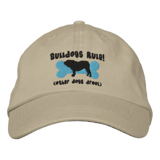 Bulldogs Rule Embroidered Hat (English Bulldog)