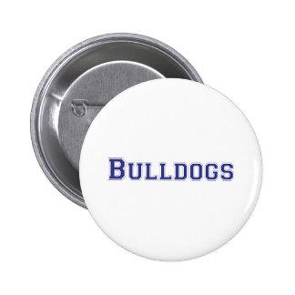 Bulldogs square logo in blue 6 cm round badge