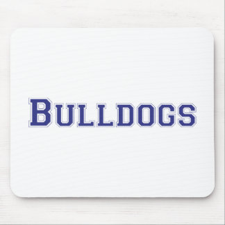 Bulldogs square logo in blue mouse pads