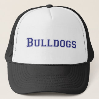 Bulldogs square logo in blue trucker hat