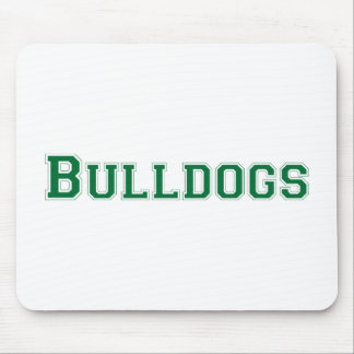 Bulldogs square logo  in green mousepads
