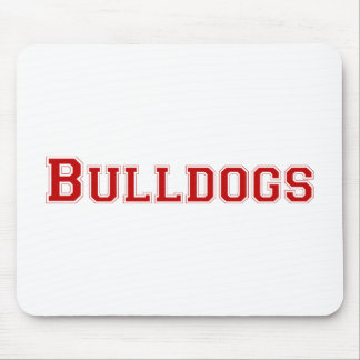 Bulldogs square logo  in red mouse pad