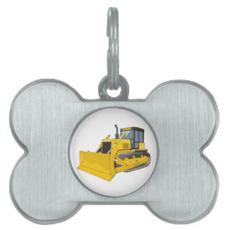 bulldozer 1 pet name tag