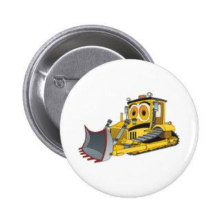 Bulldozer Cartoon 6 Cm Round Badge