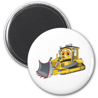 Bulldozer Cartoon 6 Cm Round Magnet