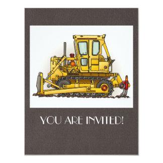 Bulldozer Dozer 11 Cm X 14 Cm Invitation Card