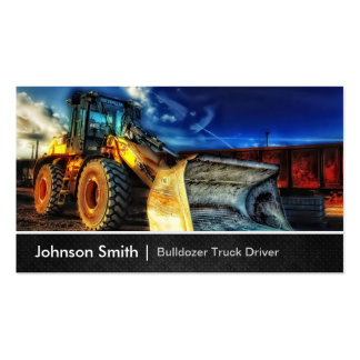 Bulldozer Excavator - Construction Truck Driver Business Cards