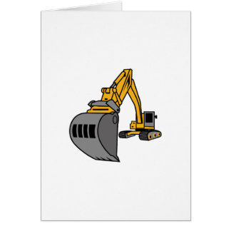 Bulldozer Excavator Greeting Card