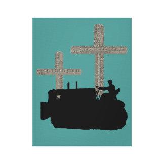 Bulldozer Operating Engineer Christian Cross Canvas Print