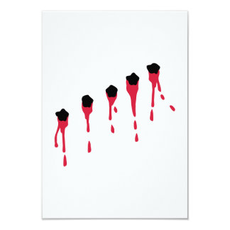 Bullet holes blood 9 cm x 13 cm invitation card