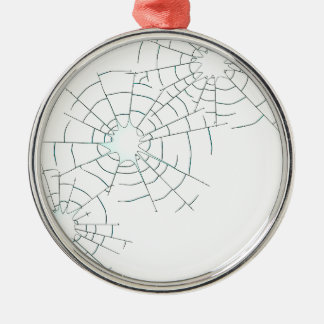 Bullet Holes in Glass Christmas Ornament