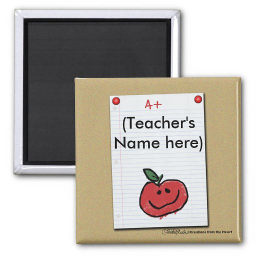 Bulletin Board Note for Elementary Teacher Refrigerator Magnet