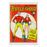 Bulletman Vintage Comic Book Cover Poster