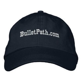 BulletPath.com Hat- Dark colors with white embroid Embroidered Hats