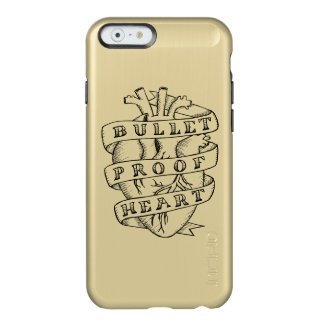 Bulletproof Heart iPhone 6 Gold Case