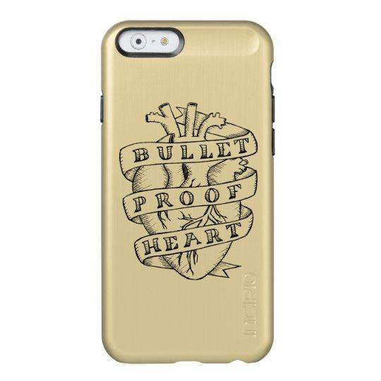 Bulletproof Heart iPhone 6 Gold Case