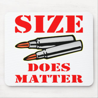 Bullets; Size Does Matter Mouse Pad