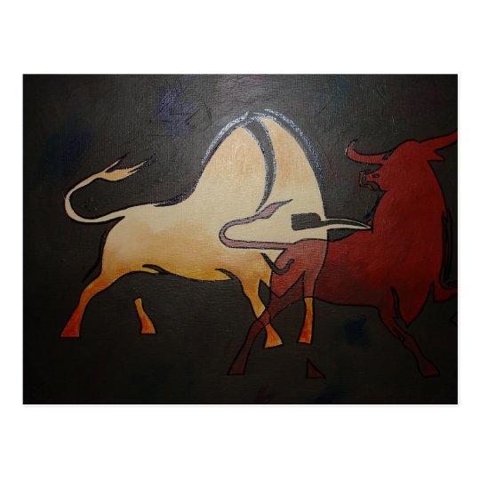 Bullfight 1 postcard