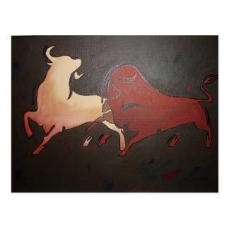 Bullfight 2 postcard