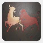 Bullfight 2 square stickers