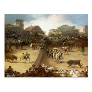 Bullfight in a Divided Ring Francisco José de Goya Postcard