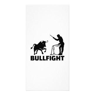 Bullfight Photo Card Template