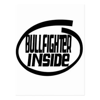 Bullfighter Inside Postcard
