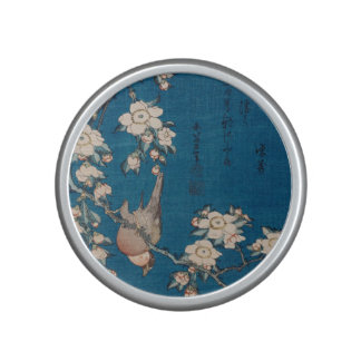 Bullfinch on a Weeping Cherry Branch by Hokusai Bluetooth Speaker