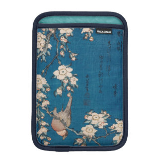 Bullfinch on a Weeping Cherry Branch by Hokusai iPad Mini Sleeve