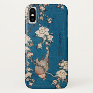 Bullfinch on a Weeping Cherry Branch by Hokusai iPhone X Case