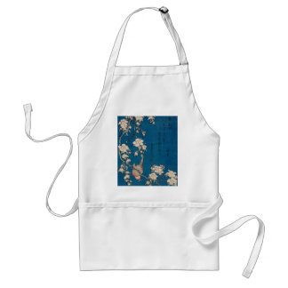 Bullfinch on a Weeping Cherry Branch by Hokusai Standard Apron