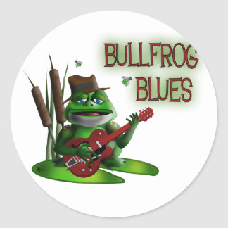 Bullfrog Blues Round Sticker