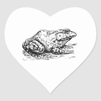 Bullfrog Heart Sticker