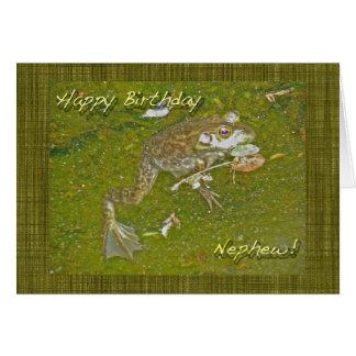 Bullfrog Nephew Birthday Card