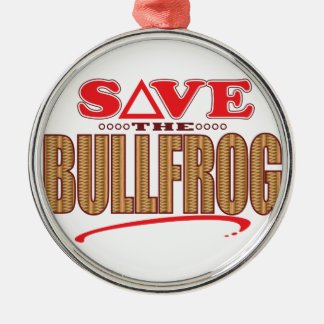Bullfrog Save Christmas Ornament