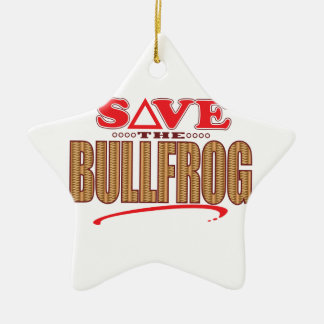Bullfrog Save Christmas Ornament
