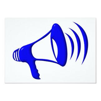 Bullhorn - Add your own words 13 Cm X 18 Cm Invitation Card