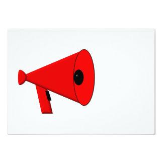 Bullhorn / Megaphone 13 Cm X 18 Cm Invitation Card