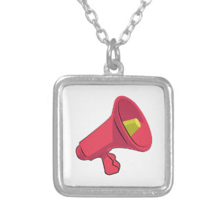 Bullhorn Silver Plated Necklace
