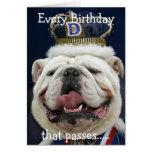 Bullldog Birthday card