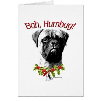 Bullmastiff Bah Humbug Greeting Card