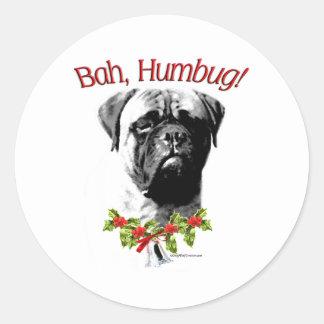 Bullmastiff Bah Humbug - Sticker