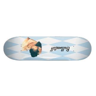 Bullmastiff - Blue w/ White Diamonds Design Skateboard Decks