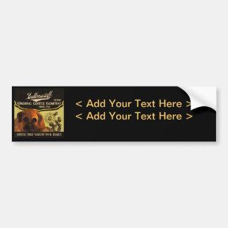 Bullmastiff Brand - Organic Coffee Company Bumper Sticker