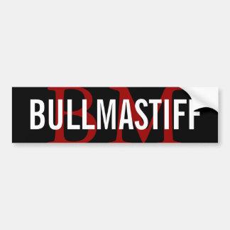 Bullmastiff Breed Monogram Design Bumper Sticker