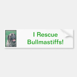 Bullmastiff Brindle Bumper Sticker