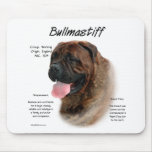 Bullmastiff (brindle) History Design Mouse Pad