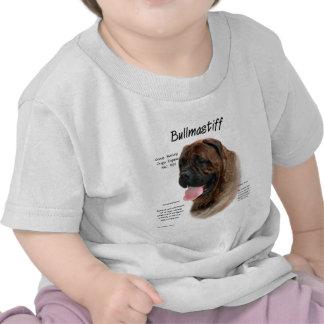 Bullmastiff brindle History Design T Shirts