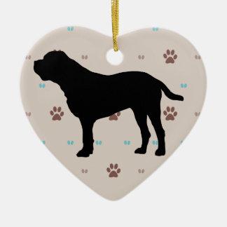 Bullmastiff Ceramic Heart Decoration